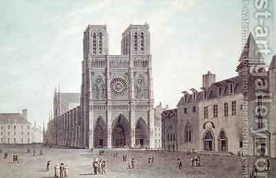 The Square in Front of Notre Dame at the Time of the Consulat by (after) Garbizza, Angelo - Reproduction Oil Painting