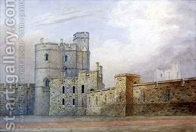 Windsor Castle the Military Knights Tower by Michael Gandy - Reproduction Oil Painting