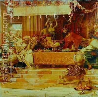 The Sword of Damocles by Herbert Gandy - Reproduction Oil Painting