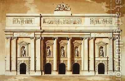 Elevation for the West Front of Parliament House Dublin by James Gandon - Reproduction Oil Painting