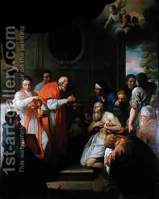 St Roch curing the plague stricken by Jacques Gamelin - Reproduction Oil Painting