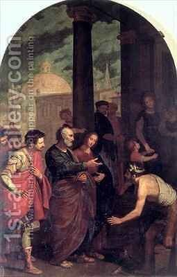 St Peter and St John Healing a Cripple by Cosimo Gamberucci or Gambaruccio - Reproduction Oil Painting