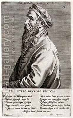 Portrait of Pieter Brueghel the Elder by Theodor Galle - Reproduction Oil Painting