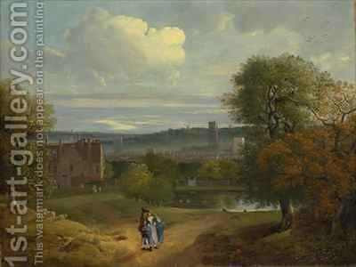 View of Ipswich from Christchurch Park by Thomas Gainsborough - Reproduction Oil Painting