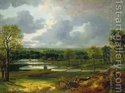 Holywells Park Ipswich by Thomas Gainsborough - Reproduction Oil Painting