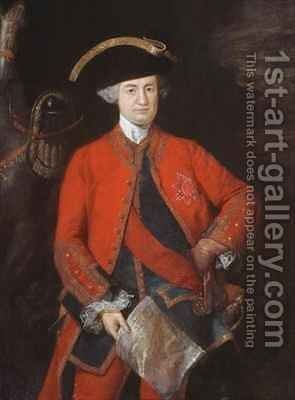 Lord Robert Clive 1725-74 in General Officers uniform by Thomas Gainsborough - Reproduction Oil Painting