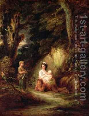 Gypsy Encampment by Dupont Gainsborough - Reproduction Oil Painting