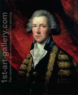 Portrait of William Pitt the Younger 1759-1806 by Dupont Gainsborough - Reproduction Oil Painting