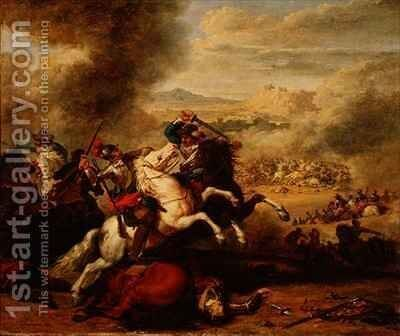 Cavaliers in Combat by Benigne Gagnereaux - Reproduction Oil Painting