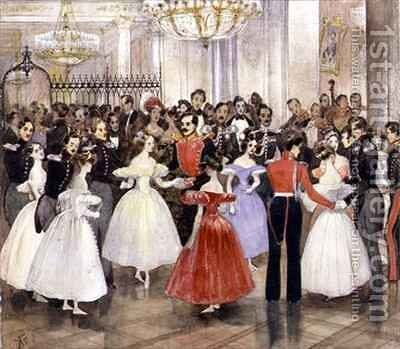 Princess Baryatinskayas Ball by Grigori Grigorevich Gagarin - Reproduction Oil Painting