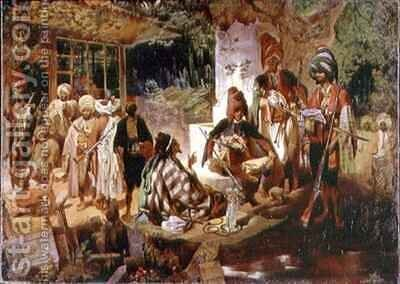 Oriental Scene by Grigori Grigorevich Gagarin - Reproduction Oil Painting