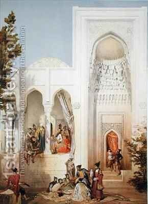 The Palace of the Khan of Baku Apsheron peninsula by (after) Gagarin, Grigori Grigorevich - Reproduction Oil Painting