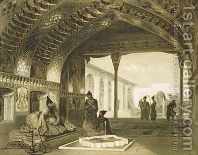 The Hall of Mirrors in the Palace of the Sardar of Yerevan Armenia by (after) Gagarin, Grigori Grigorevich - Reproduction Oil Painting