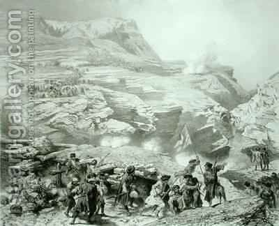 Soulak Pass at Akhati Dagestan by (after) Gagarin, Grigori Grigorevich - Reproduction Oil Painting