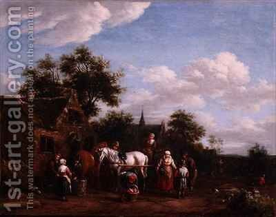 A Farriers Shop by Barend Gael or Gaal - Reproduction Oil Painting