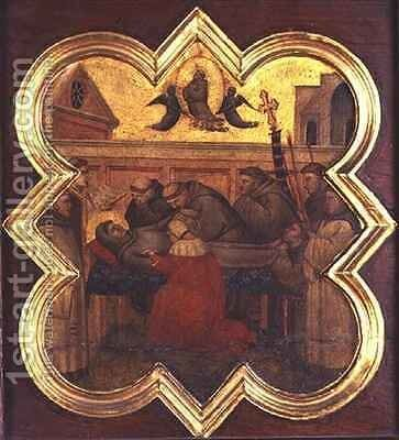 The Death of St Francis by Taddeo Gaddi - Reproduction Oil Painting