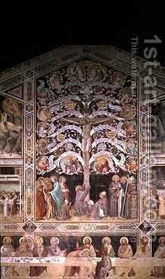 The Tree of Life and The Last Supper by Taddeo Gaddi - Reproduction Oil Painting