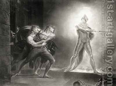 Hamlet by (after) Fuseli, Henry (Fussli, Johann Heinrich) - Reproduction Oil Painting