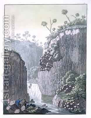 Explorers with Humboldts Expedition in the Basalt Cliffs at Regla Mexico by Gerolamo Fumagalli - Reproduction Oil Painting