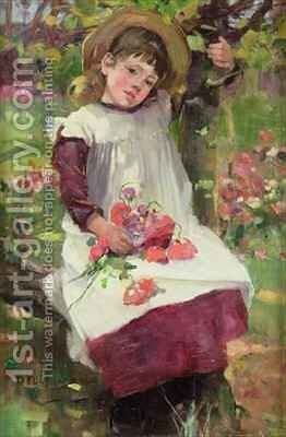 The Poppy Gatherer by David Fulton - Reproduction Oil Painting