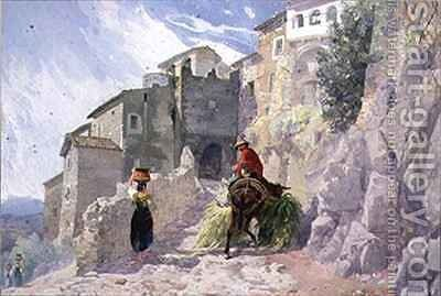 The Monastery of San Rocco Olevano by Alfred Downing Fripp - Reproduction Oil Painting