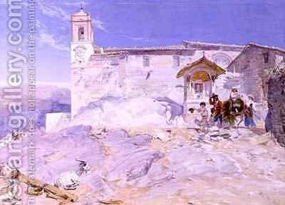 Sta Rocco Olevano by Alfred Downing Fripp - Reproduction Oil Painting