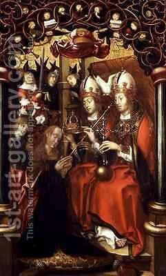 The Crowning of the Virgin Mary by Hans Fries - Reproduction Oil Painting