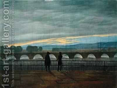 August Bridge in Dresden by (after) Friedrich, Caspar David - Reproduction Oil Painting