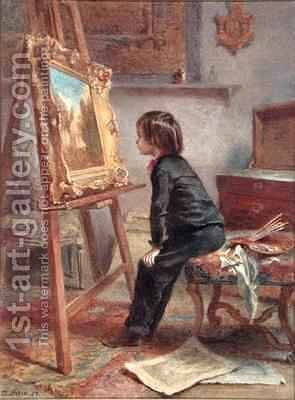 The Young Connoisseur by Edouard Frère - Reproduction Oil Painting