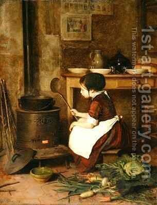 The Little Cook by Edouard Frère - Reproduction Oil Painting