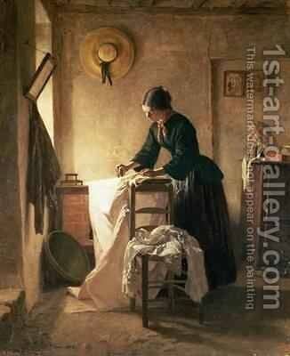 The Laundress by Edouard Frère - Reproduction Oil Painting
