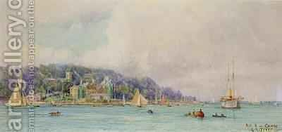 The Royal Yacht Squadron Cowes by Henry Branston Freer - Reproduction Oil Painting