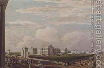 A View of Government House Calcutta by (after) Fraser, James Baillie - Reproduction Oil Painting