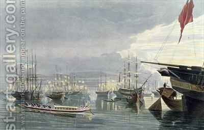 A View of the River Shipping and Town of Calcutta from near Smiths Dock by (after) Fraser, James Baillie - Reproduction Oil Painting