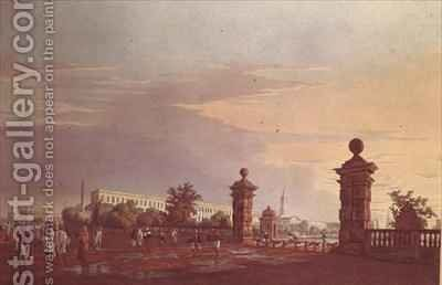 Tank Square from the West by (after) Fraser, James Baillie - Reproduction Oil Painting