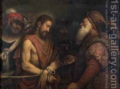Christ before Caiaphas by Niccolo Frangipane - Reproduction Oil Painting