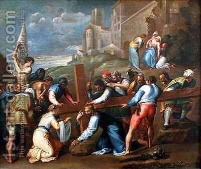 Christ on the Road to Calvary by Battista Franco - Reproduction Oil Painting