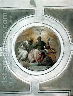 Representation of one of the Virtues by Battista Franco - Reproduction Oil Painting