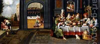 .Loading... Please wait Lazarus in the House of the Rich Man by Hieronymus II Francken - Reproduction Oil Painting