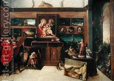 The Amateurs Exhibition Room by Hieronymus II Francken - Reproduction Oil Painting