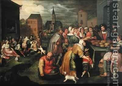 The Seven Acts of Mercy by (after) Frans II the Younger - Reproduction Oil Painting