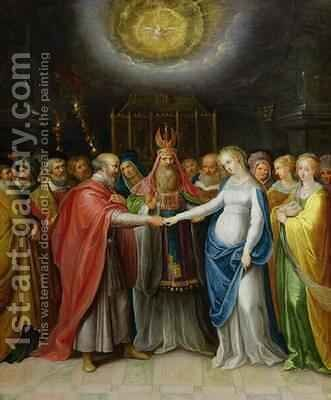 Betrothal of the Virgin by Ambrosius II Francken or Franck - Reproduction Oil Painting