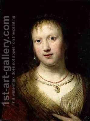 Portrait of Saskia by Johann Andreas Joseph Francke - Reproduction Oil Painting