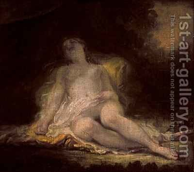 Sleeping Bacchante by (after) Fragonard, Jean-Honore - Reproduction Oil Painting
