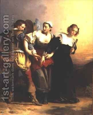 Scene from the Opera Don Giovanni by Mozart by Alexandre Evariste Fragonard - Reproduction Oil Painting