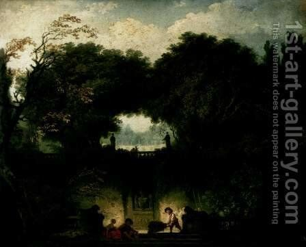The Small Park Le Petit Parc by Jean-Honore Fragonard - Reproduction Oil Painting