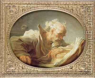 A Philosopher 2 by Jean-Honore Fragonard - Reproduction Oil Painting