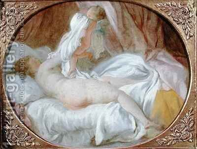 The Chemise Removed or The Lady Undressing by Jean-Honore Fragonard - Reproduction Oil Painting