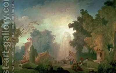 The Fete at Saint Cloud by Jean-Honore Fragonard - Reproduction Oil Painting