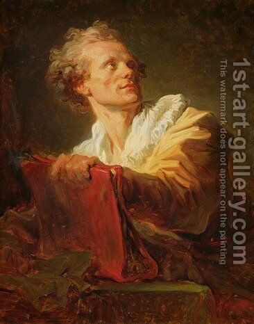 Portrait of a Young Artist presumed to be Jacques Andre Naigeon 1738-1810 by Jean-Honore Fragonard - Reproduction Oil Painting